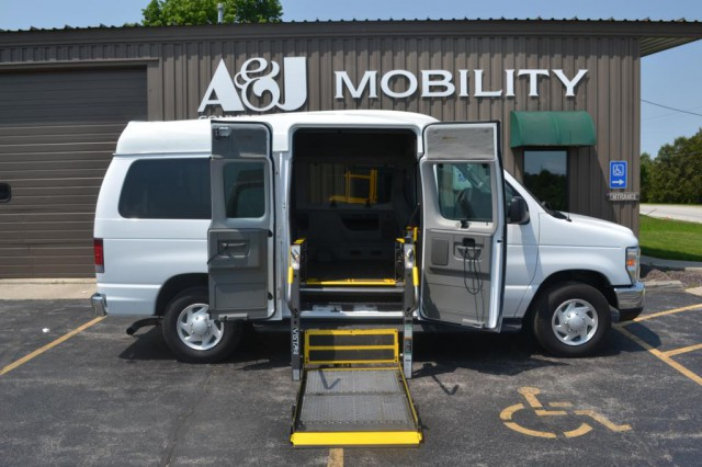 Bus For Sale: 2012 Ford E-Series Wagon E-350 - Paratransit Side Entry  - A&J Commercial stocks Wisconsins largest inventory of wheelchair accessible vehicles for companies. All of our vehicles undergo a rigorous inspection on both the chassis and mobility components. Our consultants can visit you at your business (in Wisconsin) upon request.